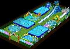 免费设计移动水上乐园效果图