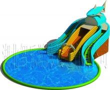 龙鲨滑梯-水滑梯