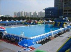 可拆装游泳池移动水上乐园设备 定做支架游泳池