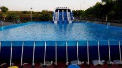 大型支架式游泳池水上乐园设备厂家 pvc支架游泳池安装