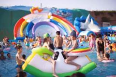 小压板_大型充气玩具,水上乐园,充气滑梯,鲨 湖北支架游泳池批发