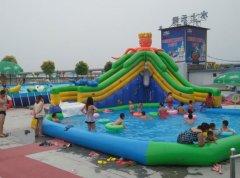 章鱼水滑梯_大型充气玩具,充气城堡,充气滑梯加厚支架游泳池批发