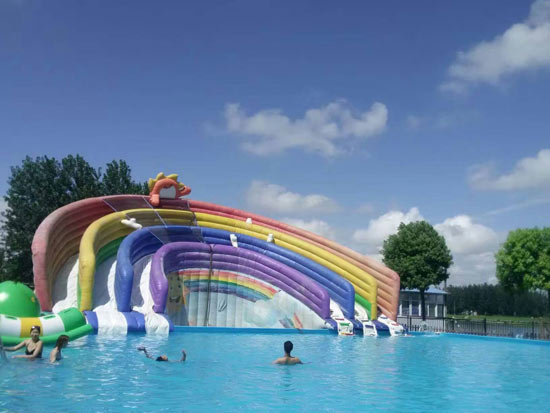 彩虹滑梯 彩虹水滑梯 水上乐园滑梯